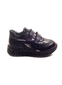 Minipicco Minipicco Kız Cocuk Siyah Deri Ortopedik Destekli Çocuk Ayakkabı